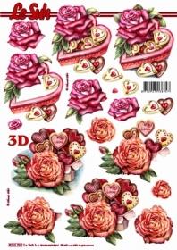 3D sheet Herzdose+Rosen Format A4 - Format A4