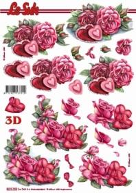 3D sheet Rosen+Herzen - Format A4