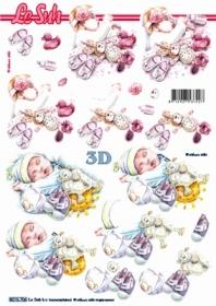 Feuille 3D Format A4 - Baby - Format A4
