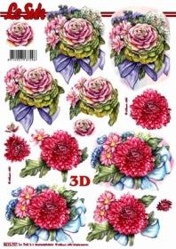 3D sheet Format A4 - Blumen - Format A4