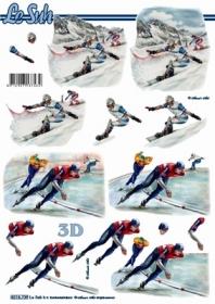 3D Bogen Format A4 - Snowborder + Eisl?ufer - Format A4