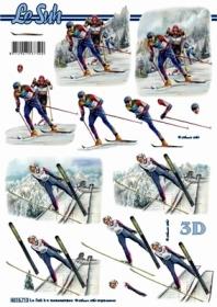 Hojas de 3D Format A4 - Skifahrer - Formato A4