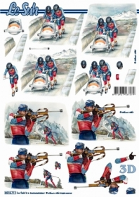 3D sheet Format A4 - Wintersport - Format A4