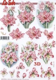 Hojas de 3D 2x Blumen Format A4 - Formato A4