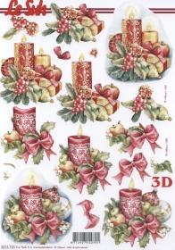 Feuille 3D Weih.-Kerze Format A4 - Format A4