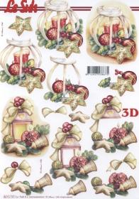 3D sheet Weih.Laterne+Kerze Format A4 - Format A4