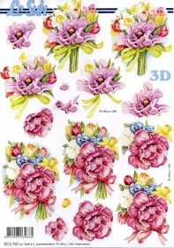 Feuille 3D Blumenstrauß - Format A4