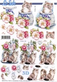 Hojas de 3D Katzen - Formato A4