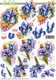 3D sheet Lilien - Format A4