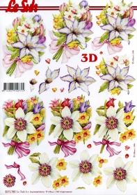 Hojas de 3D Blumenstrauss - Formato A4
