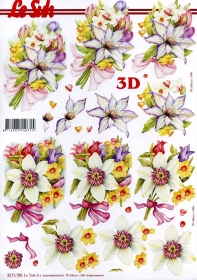 Carta per 3D Blumenstrauss - Formato A4