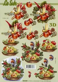 3D sheet Weihnachtsblumen - Format A4
