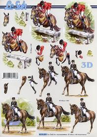 Feuille 3D Pferde - Format A4