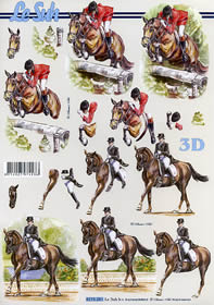 3D sheet Pferde - Format A4