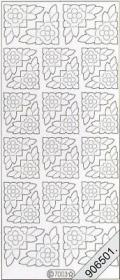 Velvet Stickers 10 x 23 cm - beige