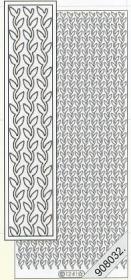 Stickers Flitter Blätter silber - silber