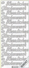 Stickers Glitzer-Stickers - black