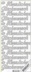 Stickers Glitzer-Stickers - gold