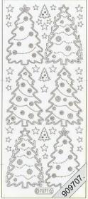 Stickers Tannenbaum - rot
