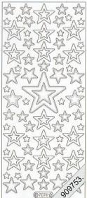 Autocollants Glitzer-Stickers - or