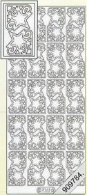 Adesivi Glitzer-Stickers - oro