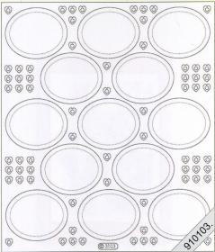 Stickers transparent - silber