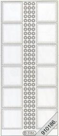 Autocollants transparent - or
