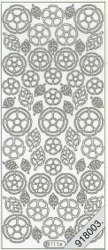 Stickers Blätter+Blumen - white