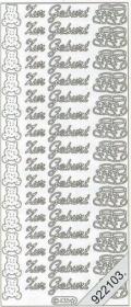 Stickers 0435 - Zur Geburt - rosa