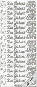 Stickers Zur Geburt - silber