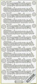 Stickers Herzlichen Glückwunsch groß - gold