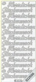 Stickers Herzlichen Glückwunsch - silver
