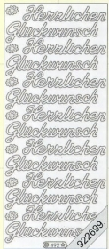 Stickers Herzlichen Glückwunsch - gold