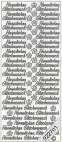 Stickers Herzlichen Glückwunsch - bronze