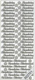 Stickers 0429 - kleine Herzl. Glückw. - gold