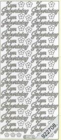 Stickers 0401 - zum Geburtstag - silber