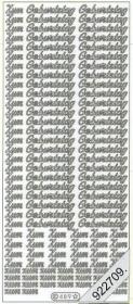 Stickers Zum Geburtstag klein - silber
