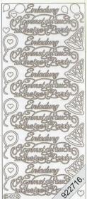 Stickers Kommst du auch zur Party - silber
