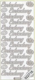 Stickers Einladung - silber