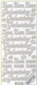 Stickers Zum GeburtstagText-Sticker - deutsch - silber