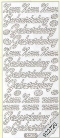 Autocollants Zum GeburtstagText-Sticker - deutsch - or