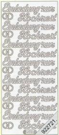 Stickers Einladung zur Hochzeit - silver