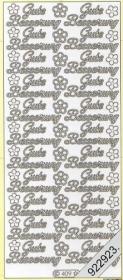 Stickers Gute BesserungText-Sticker - deutsch - silber