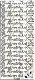 Stickers 0407 - Herzlichen Dank - silber