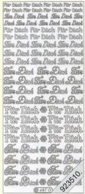 Stickers Für Dich - gold