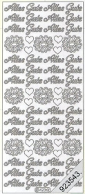 Stickers 0423 - Alles Gute - gold