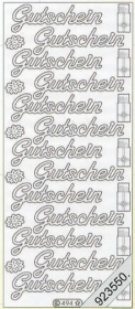 Stickers Text-Sticker - deutsch - silver