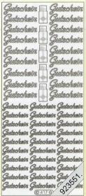 Stickers Text-Sticker - deutsch - silber