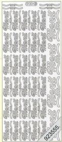 Stickers 0430 - Menü - silber
