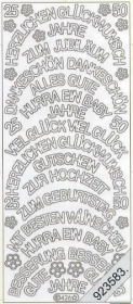 Stickers 0426 - große Rundtekst.. - silber